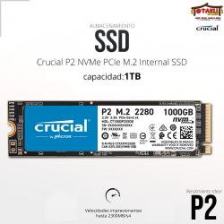 SSD NVME M.2 crucial p2 1TB